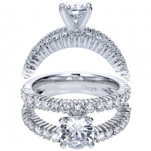 Taryn 14k White Gold Round Split Shank Engagement Ring TE4232W44JJ