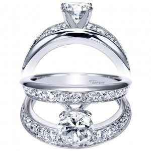 Taryn 14k White Gold Round Split Shank Engagement Ring TE5316W44JJ