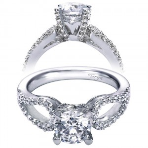 Taryn 14k White Gold Round Split Shank Engagement Ring TE5912W44JJ