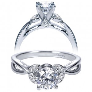 Taryn 14k White Gold Round Split Shank Engagement Ring TE8130W44JJ
