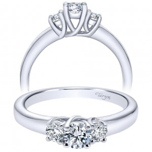 Taryn 14k White Gold Round Split Shank Engagement Ring TE92718W44JJ