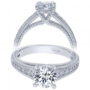 Taryn 14k White Gold Round Straight Engagement Ring TE10120W44JJ