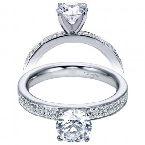 Taryn 14k White Gold Round Straight Engagement Ring TE6139W44JJ