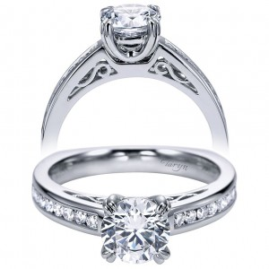 Taryn 14k White Gold Round Straight Engagement Ring TE6655W44JJ