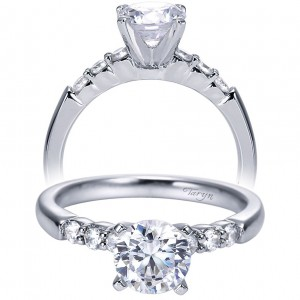 Taryn 14k White Gold Round Straight Engagement Ring TE7847W44JJ