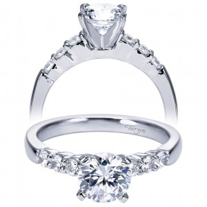 Taryn 14k White Gold Round Straight Engagement Ring TE7850W44JJ