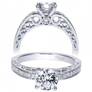 Taryn 14k White Gold Round Straight Engagement Ring TE7903W44JJ