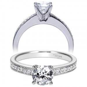 Taryn 14k White Gold Round Straight Engagement Ring TE7981W44JJ