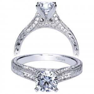Taryn 14k White Gold Round Straight Engagement Ring TE7992W44JJ