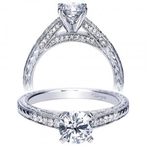Taryn 14k White Gold Round Straight Engagement Ring TE7993W44JJ