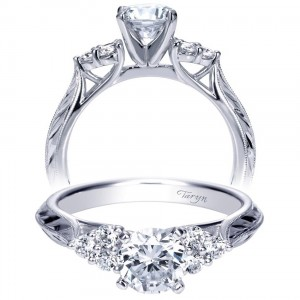 Taryn 14k White Gold Round Straight Engagement Ring TE7994W44JJ