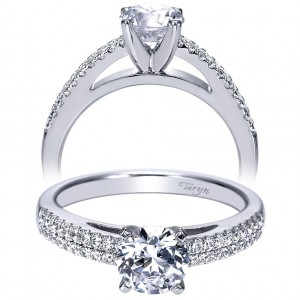 Taryn 14k White Gold Round Straight Engagement Ring TE8026W44JJ