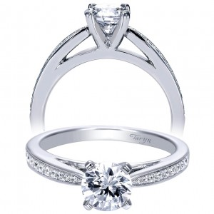 Taryn 14k White Gold Round Straight Engagement Ring TE8027W44JJ