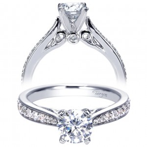 Taryn 14k White Gold Round Straight Engagement Ring TE8033W44JJ