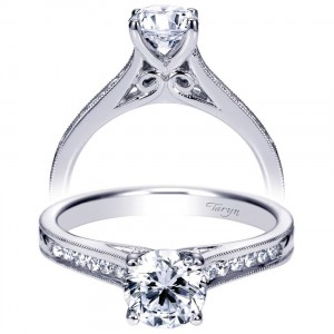 Taryn 14k White Gold Round Straight Engagement Ring TE8063W44JJ