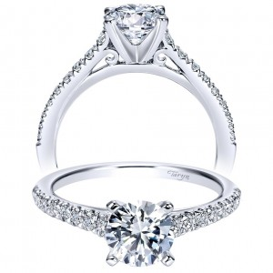 Taryn 14k White Gold Round Straight Engagement Ring TE8219W44JJ