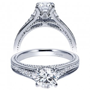 Taryn 14k White Gold Round Straight Engagement Ring TE8825W44JJ