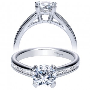 Taryn 14k White Gold Round Straight Engagement Ring TE8956W44JJ
