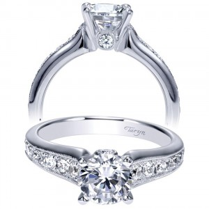 Taryn 14k White Gold Round Straight Engagement Ring TE9032W44JJ