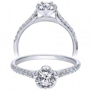 Taryn 14k White Gold Round Straight Engagement Ring TE910160W44JJ