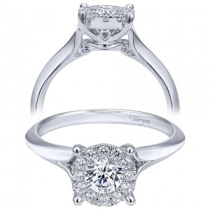 Taryn 14k White Gold Round Straight Engagement Ring TE910941W44JJ