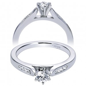 Taryn 14k White Gold Round Straight Engagement Ring TE96352W44JJ