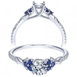 Taryn 14k White Gold Round Twisted Engagement Ring TE911960R0W44SA