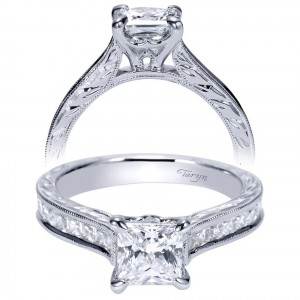 Taryn 14k White Gold Straight Engagement Ring TE8819W44JJ