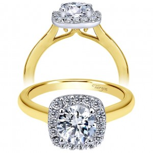 Taryn 14k Yellow Gold Round Halo Engagement Ring TE6873M44JJ