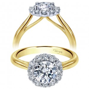 Taryn 14k Yellow Gold Round Halo Engagement Ring TE7721M44JJ