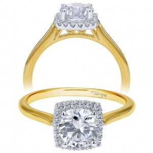 Taryn 14k Yellow Gold Round Halo Engagement Ring TE7818M44JJ