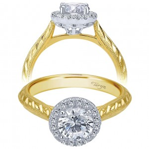 Taryn 14k Yellow Gold Round Halo Engagement Ring TE7829M44JJ