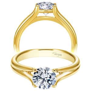 Taryn 14k Yellow Gold Round Solitaire Engagement Ring TE7516Y4JJJ
