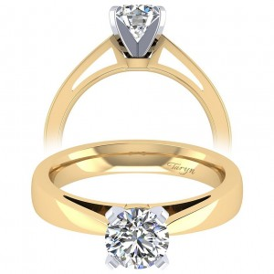 Taryn 14k Yellow Gold Round Solitaire Engagement Ring TE8132M4JJJ
