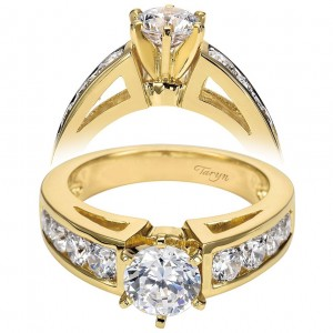 Taryn 14k Yellow Gold Round Straight Engagement Ring TE1707M43JJ