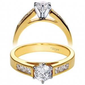 Taryn 14k Yellow Gold Round Straight Engagement Ring TE2315M43JJ