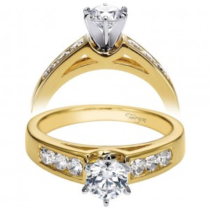 Taryn 14k Yellow Gold Round Straight Engagement Ring TE2352M43JJ