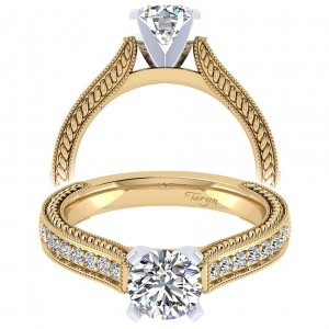 Taryn 14k Yellow Gold Round Straight Engagement Ring TE6633M44JJ