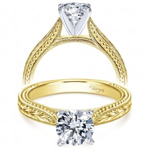 Taryn 14k Yellow Gold Round Straight Engagement Ring TE6636M4JJJ