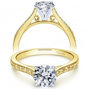 Taryn 14k Yellow Gold Round Straight Engagement Ring TE7222M4JJJ