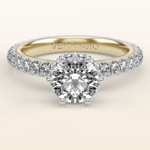 Verragio Tradition TR180TR-2WY 14 Karat Diamond Engagement Ring