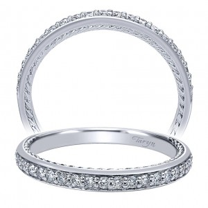 Taryn 14 Karat White Gold Curved Wedding Band TW10083W44JJ