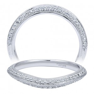Taryn 14 Karat White Gold Curved Wedding Band TW10097W44JJ