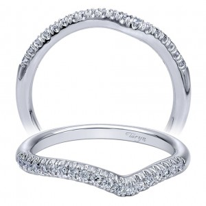 Taryn 14 Karat White Gold Curved Wedding Band TW10312W44JJ