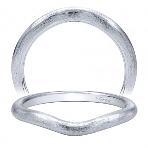 Taryn 14 Karat White Gold Curved Wedding Band TW10429W4JJJ