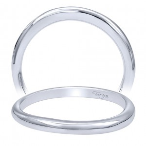 Taryn 14 Karat White Gold Curved Wedding Band TW10950W4JJJ