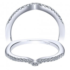 Taryn 14 Karat White Gold Curved Wedding Band TW6088W44JJ