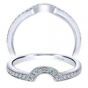 Taryn 14 Karat White Gold Curved Wedding Band TW8068W44JJ