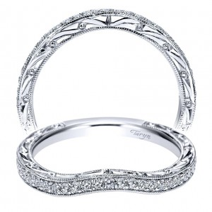Taryn 14 Karat White Gold Curved Wedding Band TW8403W44JJ
