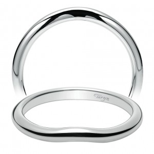 Taryn 14 Karat White Gold Curved Wedding Band TW8434W4JJJ